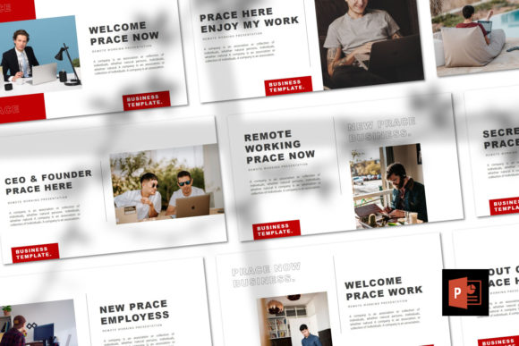 PRACE  - PPT Template Graphic Presentation Templates By Giri Creative