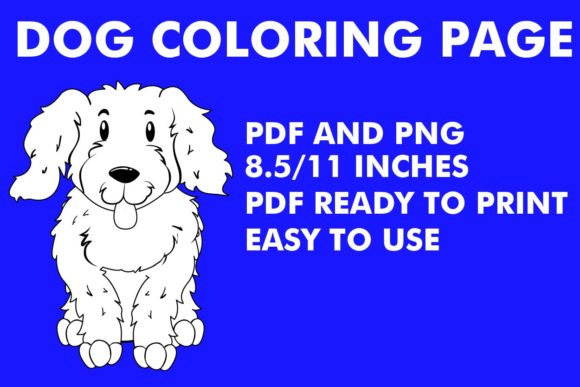 Print on Demand: Puppy Coloring Page - KDP Graphic Coloring Pages & Books Kids By Mah Moud