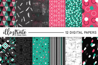 Print on Demand: Retro Vector Patterns - Seamless Digital Graphic Patterns By illuztrate