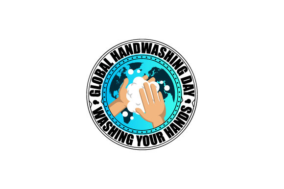Rounded Global Handwashing Day Design Graphic Illustrations By Muhammad Rizky Klinsman