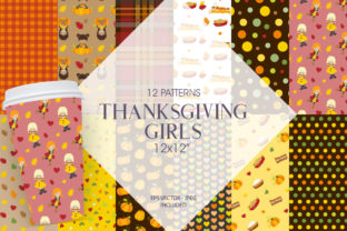 Print on Demand: Thanksgiving Girls Graphic Patterns By Prettygrafik