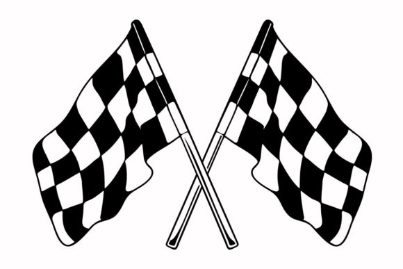 Print on Demand: The Racing Flag Graphic Illustrations By nisakaart