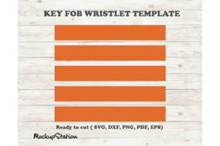 Print on Demand: Wrist Key Fob SVG, Wristlet Chain DXF Graphic Crafts By Mockup Station