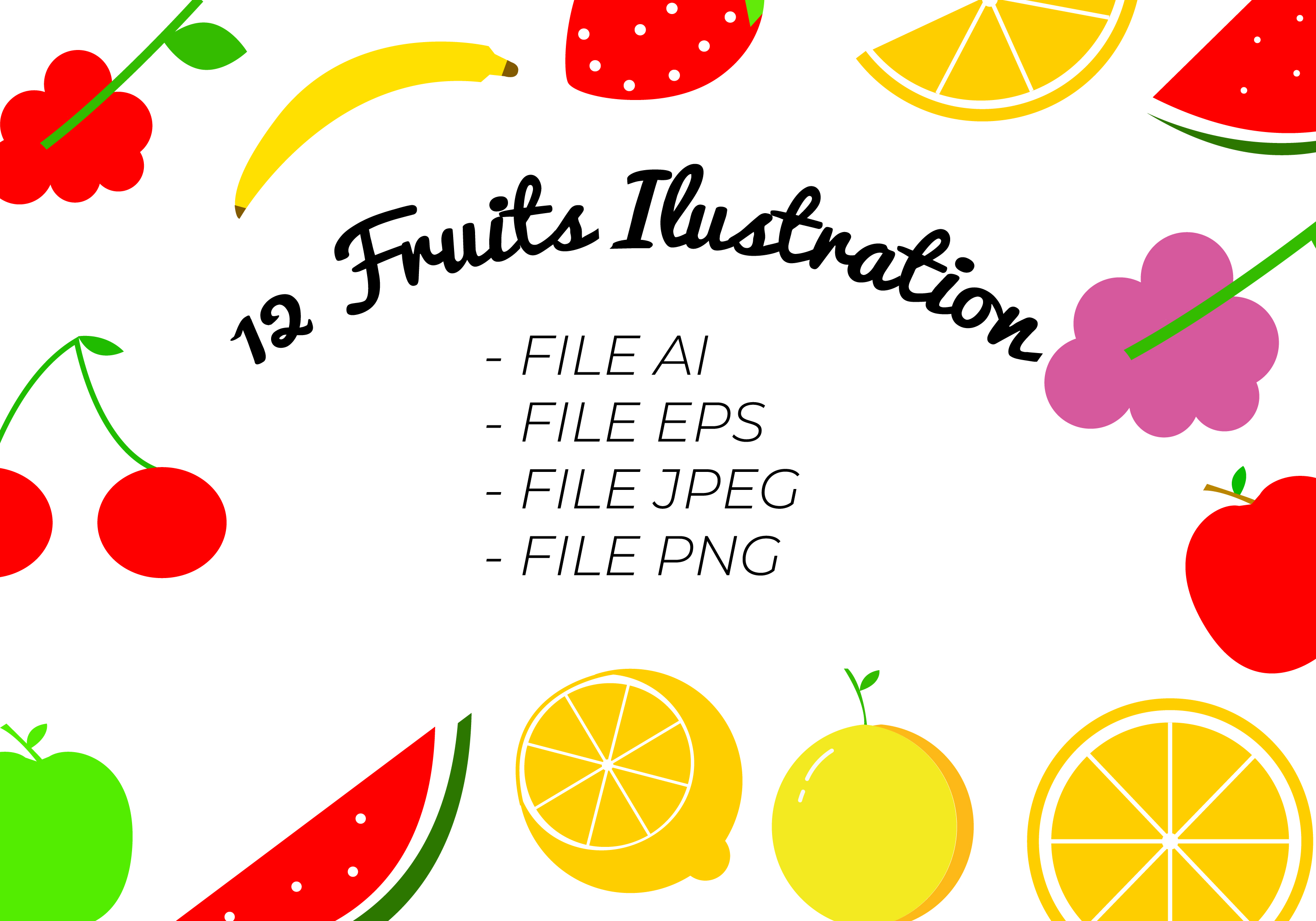 Clipart Fruits Ilustration Graphic By Handles Creative Creative Fabrica