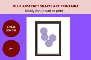Print on Demand: Blue Round Shapes Art Printable Graphic Graphic Crafts By CREATILORY