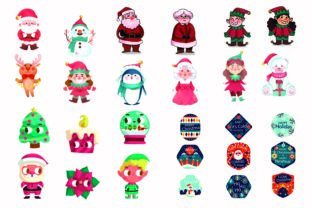 Print on Demand: Christmas Characters Collection Vector Graphic Illustrations By BOdesign