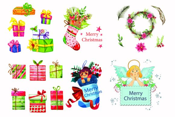Print on Demand: Christmas Gift Vector Collection Graphic Illustrations By BOdesign