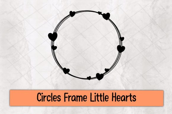 Circles Frame Little Hearts Graphic Crafts By TakeNoteDesign