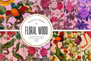Print on Demand: Floral Wood Seamless Digital Paper Graphic Backgrounds By Sabina Leja