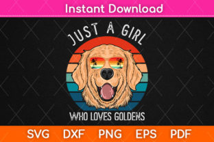 Print on Demand: Girl Who Loves Golden Retrievers Dog Svg Graphic Crafts By Graphic School