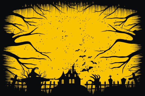 Print on Demand: Halloween Scary Background Distressed Graphic Illustrations By edywiyonopp