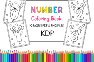KDP Number Coloring Book for Kids Set 2 Graphic Coloring Pages & Books Kids By Miss Cherry Designs