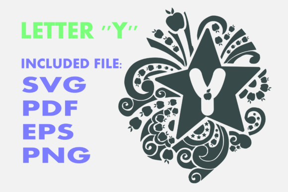 Print on Demand: Letter Y Apple Star Graphic Crafts By Infontree