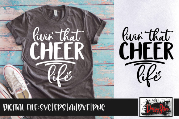 Livin' That Cheer Life Graphic Crafts By DrissyStore