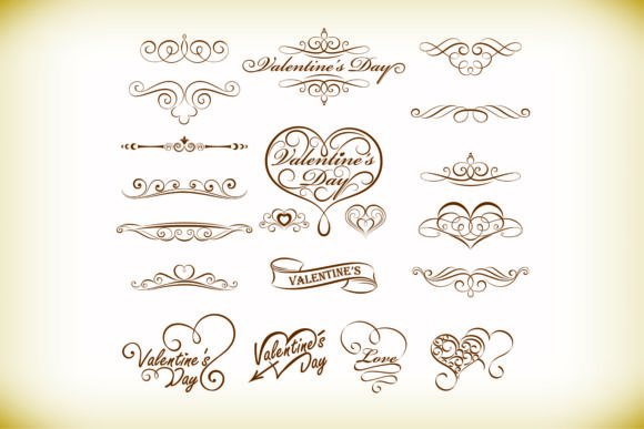 Print on Demand: Love Valentine's Day Pattern Lace Vector Graphic Illustrations By BOdesign