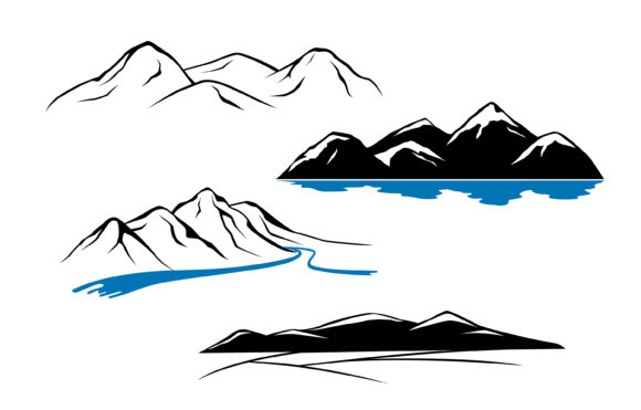 Mountains Graphic Illustrations By Cmeree