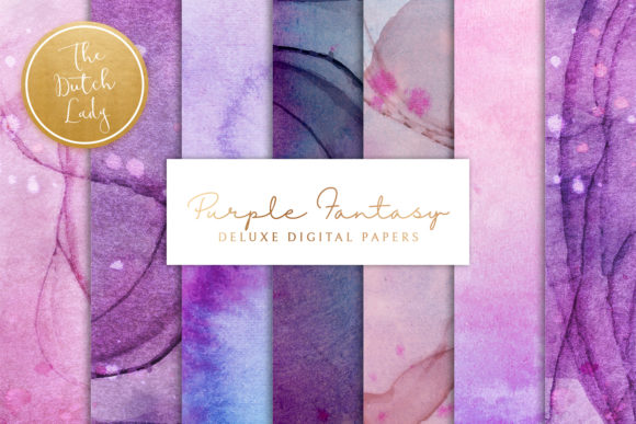 Print on Demand: Purple Alcohol in Ink Backgrounds Graphic Backgrounds By daphnepopuliers