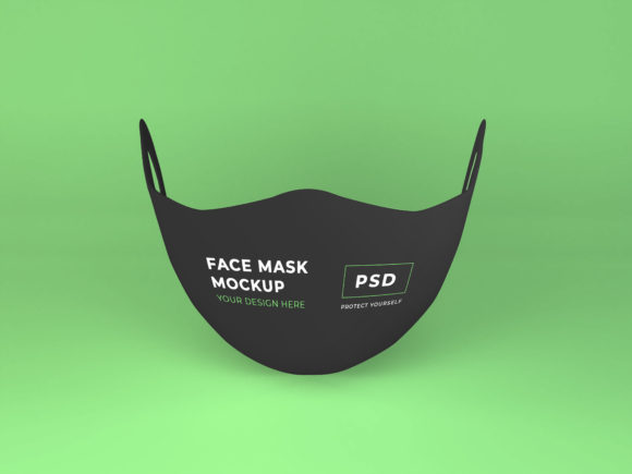 Print on Demand: Realistic Face Mask Mockup Template Graphic Product Mockups By dendysign