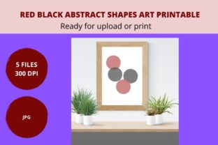 Print on Demand: Red Black Abstract Printable Art Graphic Graphic Crafts By CREATILORY