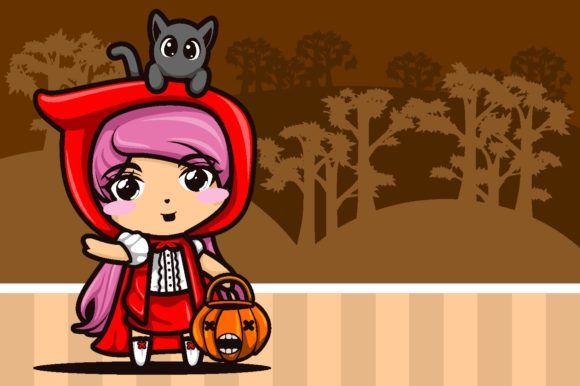 Print on Demand: Red Riding Hood Illustration Vector Graphic Illustrations By novieart 99
