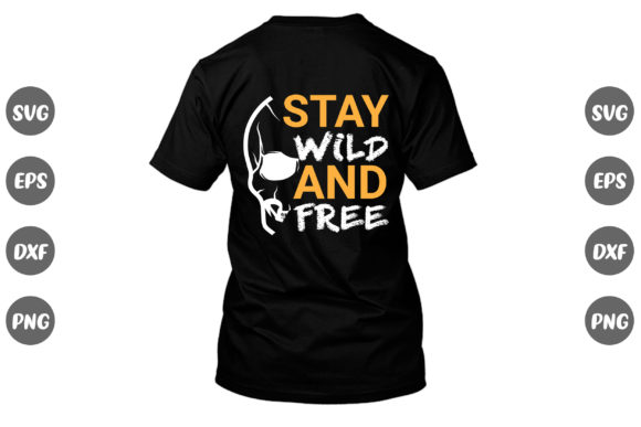Print on Demand: Skull Design, Stay Wild and Free... Graphic Print Templates By Design Store Bd.Net