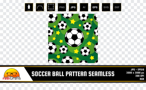 Soccer Ball Pattern Seamless Graphic Patterns By radigrafis