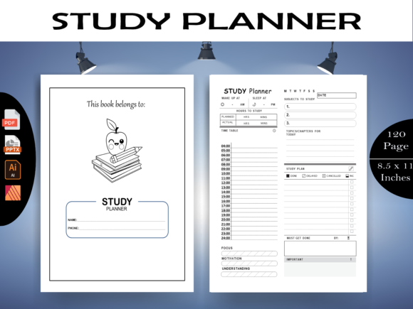 Print on Demand: Study Planner -  KDP Interior Graphic KDP Interiors By KDP-Megamind