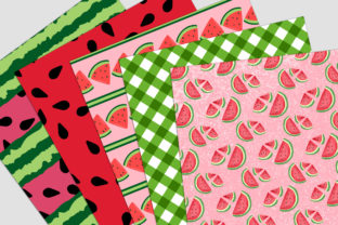Print on Demand: Watermelon Picnic Digital Paper Pack Graphic Backgrounds By Party Pixelz 2
