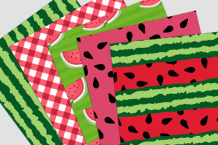 Print on Demand: Watermelon Picnic Digital Paper Pack Graphic Backgrounds By Party Pixelz 3
