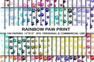 100 Paw Print Digital Papers Paws Prints Graphic Backgrounds By bestgraphicsonline