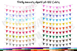 100 Tinted Bunting Banners Pennant Flags Graphic Illustrations By bestgraphicsonline