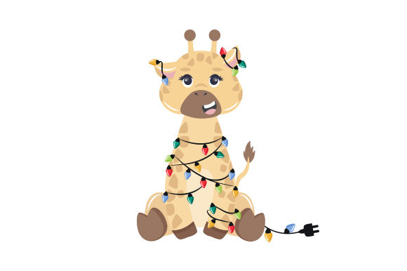 Christmas Giraffe Christmas Craft Cut File By Creative Fabrica Crafts