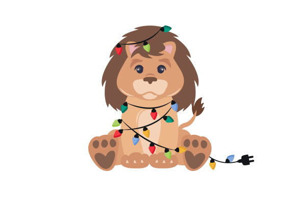 Christmas Lion Cut File