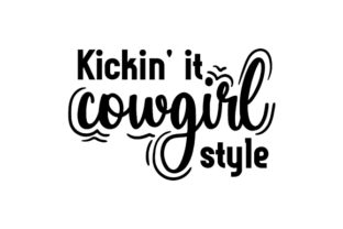 Kickin' It Cowgirl Style Cowgirl Craft Cut File By Creative Fabrica Crafts