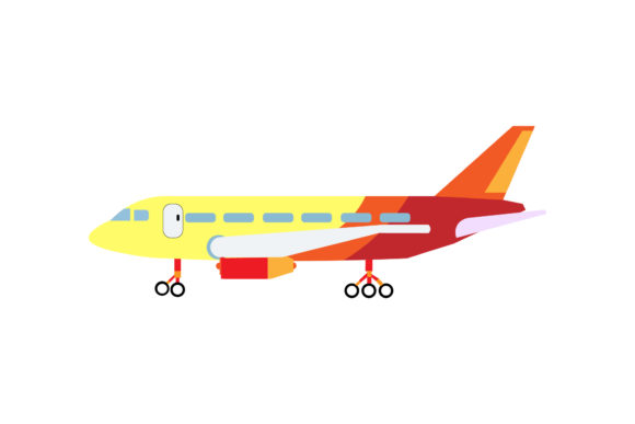 Airplane Plane Illustrations Vector Graphic Illustrations By PiGeometric