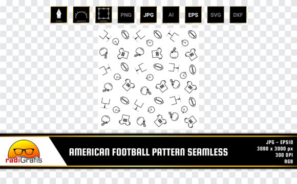 American Football Pattern Seamless Graphic Patterns By radigrafis