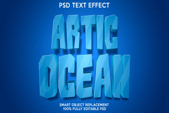 Artic Ocean Text Effect Graphic Layer Styles By gilangkenter