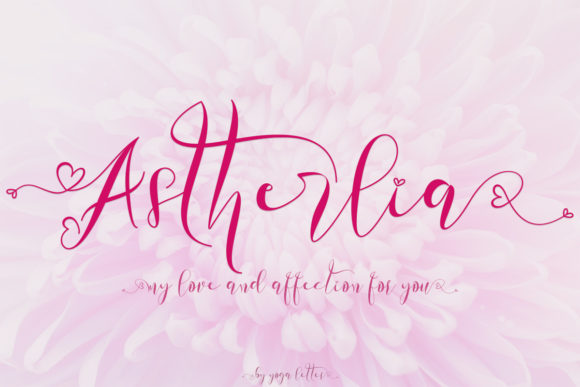 Print on Demand: Astherlia Script & Handwritten Font By yogaletter6
