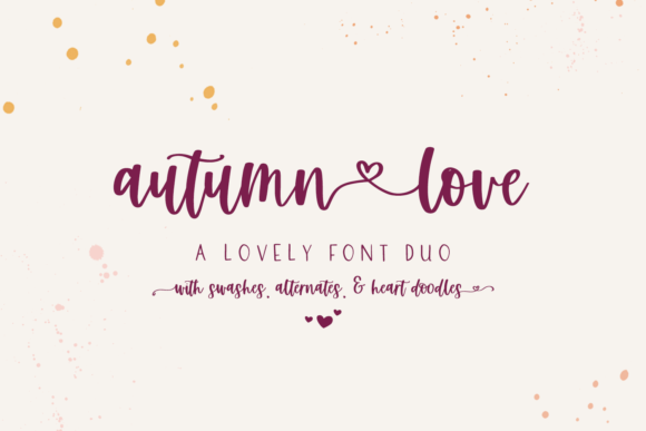 Print on Demand: Autumn Love Duo Script & Handwritten Font By BeckMcCormick