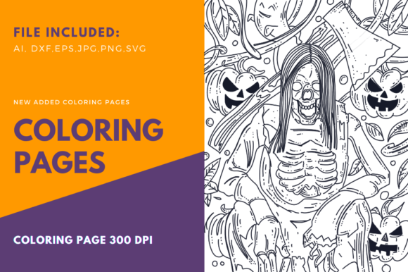 Print on Demand: Axe Throwing Skeleton Halloween Page Graphic Graphic Templates By stanosh