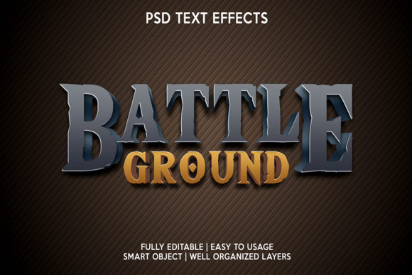 Battle Ground Text Effect Graphic Layer Styles By gilangkenter