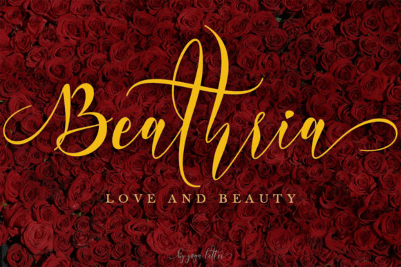 Print on Demand: Beathria Script & Handwritten Font By yogaletter6