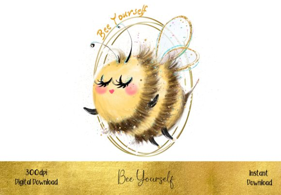 Bee Yourself Graphic Illustrations By STBB