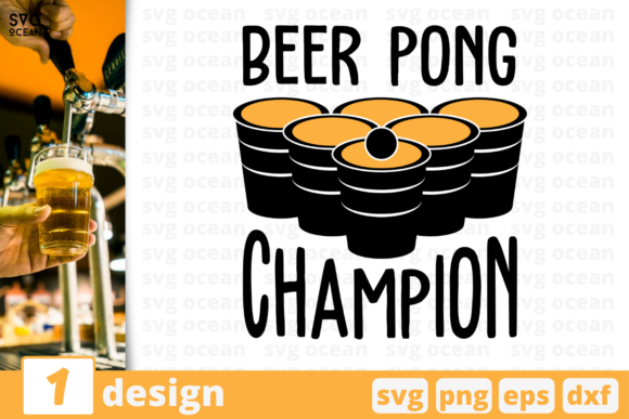 Beer Pong Champion Graphic Crafts By SvgOcean
