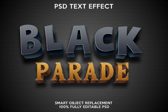 Black Parade Text Effect Graphic Layer Styles By gilangkenter