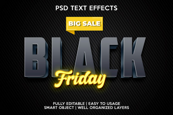 Black Friday Text Effect Premium Graphic Layer Styles By gilangkenter