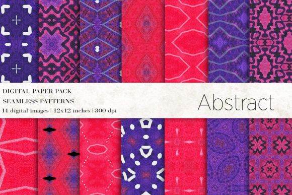 Boho Abstract Digital Papers Graphic Patterns By BonaDesigns