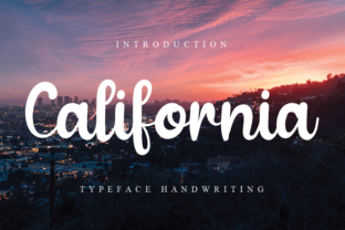 Print on Demand: California Script & Handwritten Font By andikastudio