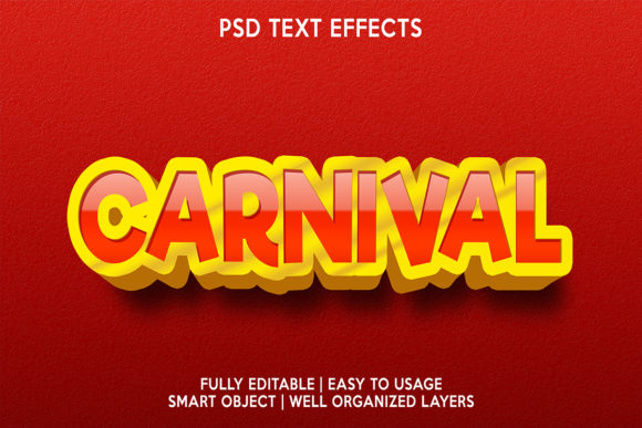 Carnival Text Effect Graphic Layer Styles By gilangkenter