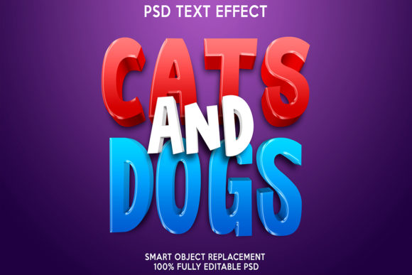 Cats and Dogs Text Effect Graphic